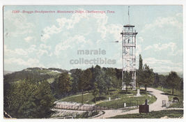 CHATTANOOGA TN,  BRAGGS HEADQUARTERS MISSIONARY RIDGE TOWER ~ 1900s post... - $3.22