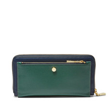 Fossil Forest/Midnight Cotton X Opening Ceromony DoubleAccordionZip Clutch - $220.99