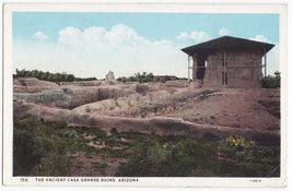 CASA GRANDE RUINS ARIZONA ~ HISTORIC NATIONAL MONUMENT c1920s vintage po... - $4.55