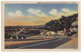 Pecos River Sw Texas ~ Scenic Highway And Bridge  1950s Postcard ~Tx - $4.55