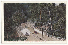 Mohawk Trail Berkshire Hills MA ~ Cars on Cold River Bridge ~ c1920s postcard - $3.22