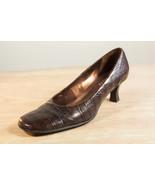 Franco Sarto 9.5 Brown Alligator Print Pumps Women's Shoes - $34.00