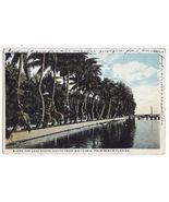 Palm Beach Florida, View Along the Lake Shore South fm Whitehall 1920s p... - $3.45