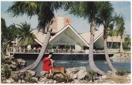 TAMPA FL ~ BUSCH GARDENS HOSPITALITY HOUSE ~WOMAN FEEDING DEER c1960s po... - $3.45