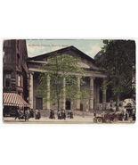 BOSTON MA ~ STREET SCENE OUTSIDE ST PAUL S CHURCH c1900s vintage postcard - $3.22