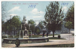 London Ontario ~ Scene in Victoria Park 1900s Canada vintage postcard - $5.47
