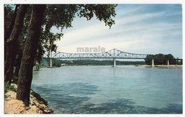 Omaha NE, Missouri River Mormon Pioneer Memorial Bridge c1960s postcard ... - $3.45