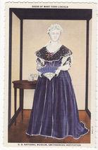 Washington DC ~ Dress of Mary Todd Lincoln, Smithsonian Museum c1940s postcard - $3.04