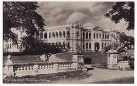 CEYLON ~ The Colombo Museum Building 1940s Sri Lanka RPPC photo postcard - $3.22