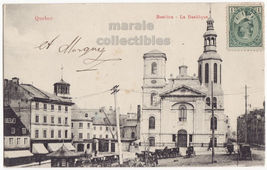 Notre Dame de Quebec QC ~ Basilica Cathedral 1900s vintage Canada postcard - $4.55