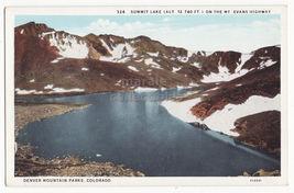 Denver Mountain Parks Colorado ~ Summit Lake On Mt Evans Highway~ 1930s Postcard - $3.22