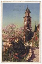 Swizerland Morcote Lugano Lake Chiesa Santa Maria del Sasso c1934 postcard - $3.22