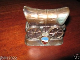 VINTAGE  MOUNT RUSHMORE BRONZE COVERED WAGON SOUVENIR - $8.94