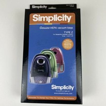 6 Genuine Simplicity Compact Type Z Hepa Bags for Jack, Snap, Jill-- SZH-6 - $23.32