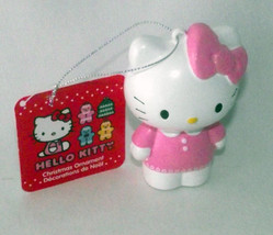Hello Kitty Christmas Ornament Kurt Adler Pink White Sanrio Holiday Hang... - $19.78