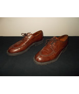 Johnston & Murphy Made Italy Leather Dress Brown Oxfords Shoes Mens 9M sku9 - $55.74