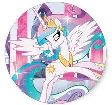 "My Little Pony Princess Celestia Birthday Edible Image Photo 8"" Round Ca... - $9.99"
