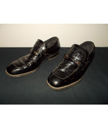 VTG-1970s Patent Leather Crocodile Design Pimp Disco Buckle Shoes Men 10... - $83.79