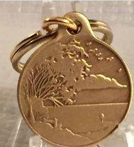 Serenity Lake & Prayer Key Chain Bronze Keychain Fob Tag Alcoholics Anon... - $4.99