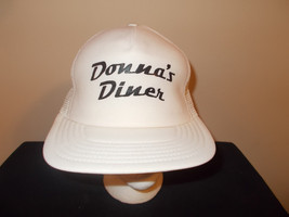 VTG-1980s Donna's Diner 1950s rockabilly diner Sharon Pennsylvania hat s... - $27.83