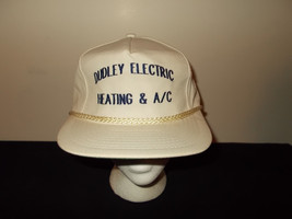 VTG-1980s Dudley Electric Heating A/C rope leather strapback hat sku27 - $27.83