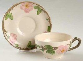 Flat Cup & Saucer Set in Desert Rose (England Backstamp) by Franciscan - $14.85
