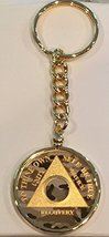 Camo Gold Plated Any Year 1 - 65 AA Medallion In Keychain Removable Sobriety ... - $29.99