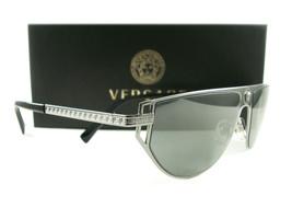 Versace Sunglasses VE2213 Gunmetal Gray 1001/6G New Authentic - $215.00