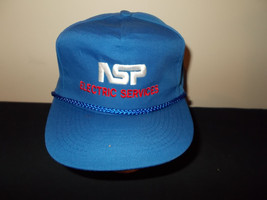 VTG-1980s NSP Energy Power Electric Services rope leather strapback hat ... - $27.83