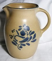 "Pfaltzgraff Brown and Blue 6 1/2"" - Folk Art - Pitcher - $24.99"