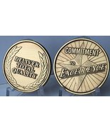 Commitment To Excellence Deliver Total Quality Bronze Medallion Challenge Token - $2.99