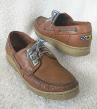 Nike Boat Shoes 7.5 Womens Casual Moc Toe Lace Up Brown Leather 8802FX - $13.14