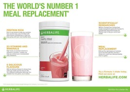 Herbalife FORMULA 1 HEALTHY MEAL NUTRITIONAL SHAKE MIX Wild Berry, - $47.95