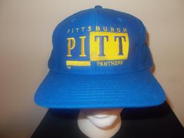 VTG-1990s Pittsburgh University Panthers signature brand snapback hat sku4 - $27.83