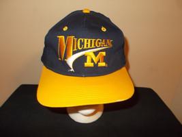 VTG-1990s University Michigan Wolverines Signatures brand retro snapback... - $27.83