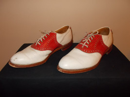 VTG-Johnston & Murphy Marriot Collection Golf Shoes Spikes wingtip Mens 10 - $214.69