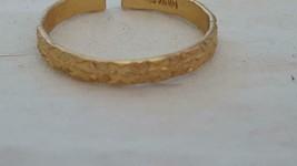 VINTAGE ADJUSTABLE FASHION COSTUME 3D FLORAL PATTERN BAND RING,PALE GOLD... - $4.94