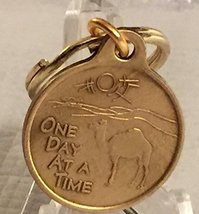 """One Day At A Time Camel 1"""" Bronze Key Chain - $4.40"""