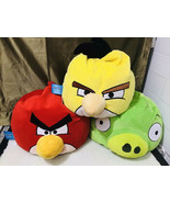 Angry Birds Jay Franco & Sons Microbead Bean Bag Pillow Lot of 3 HTF - $99.00