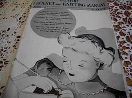 Junior Crochet and Knitting Manual Book 112 - $38.00