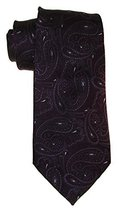 Club Room Paisley Print Classic Silk Neck Tie, One Size, Purple - $21.38