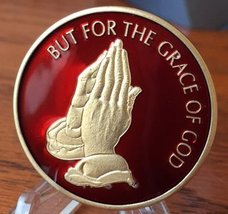 "RB100 Praying Hands ""But For The Grace Of God"" AA / NA Recovery Medallion - $19.99"