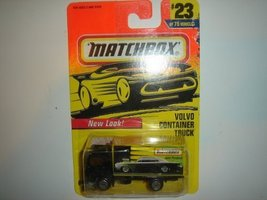 Matchbox Volvo Container Truck Black/Yellow #23 by Mattel - $2.00