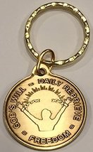Gods Will = Daily Reprieve = Freedom AA Keychain Medallion Key Tag - $6.99