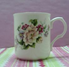 Vintage Sadler Wellington Bone China Pink Roses Flowers Coffee Cup - $8.00