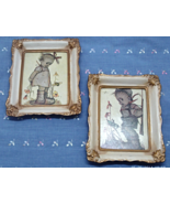 Two Vintage Hummel Reproduction Prints In Ivory & Gold Frames /W. Berlin... - $12.00