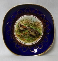 Vintage Small Square Arklow Ironstone Porcelain Trinket Dish - Birds - €16,94 EUR