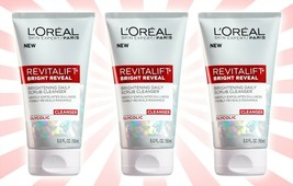 3 L'Oreal Paris Skincare Revitalift Bright Reveal Anti-Aging Facial Cleanser 5OZ - $22.76