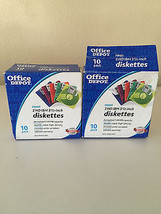 "New Office Depot assorted 2 HD IBM 3 1/2"" 3.5"" Diskettes (2)10 packs NEO... - $11.30"