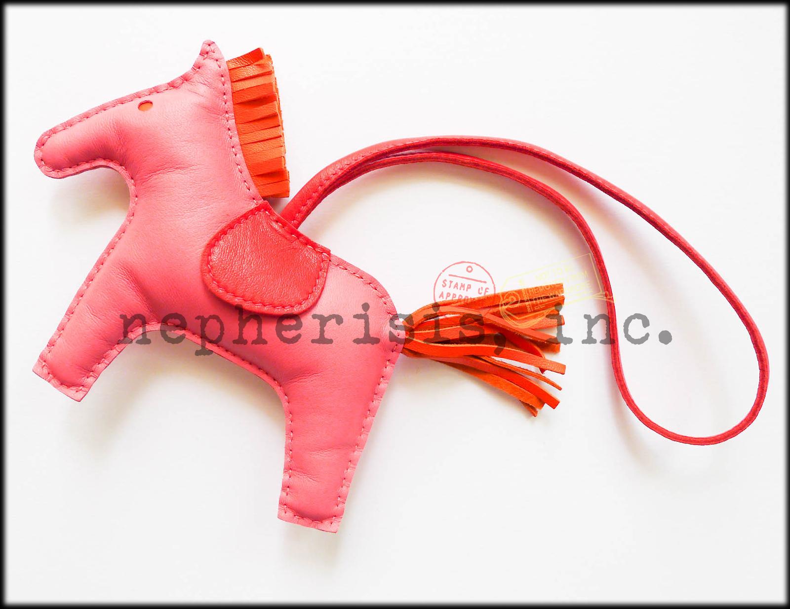 c3454c8708fb Azalea. Azalea. Previous. AUTH NWB Hermes Grigri Rodeo Horse MM Medium  Leather Bag Charm PINK ROSE AZALEA